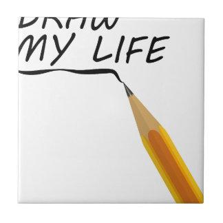 Draw my life ceramic tile