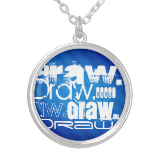 Draw, Royal Blue Stripes Necklace