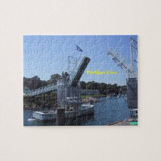 Drawbridge Up At Perkins Cove Jigsaw Puzzle