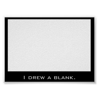 Drawing a blank poster