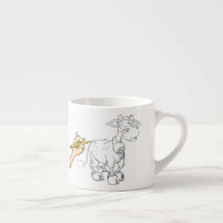 Drawing a cow espresso cup