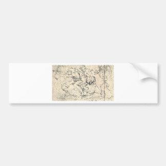 Drawing by Leonardo da Vinci Bumper Sticker