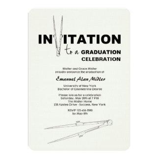 Drawing Compass Graduation Invitation