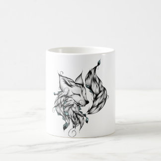 Drawing Design Of Fox Coffee Mug