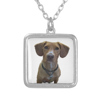 Drawing Dog Silver Plated Necklace
