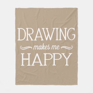 Drawing Happy Blanket - Assorted Sizes & Colors