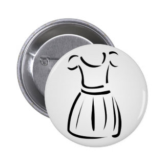 Drawing of a pinafore- apparel 6 cm round badge