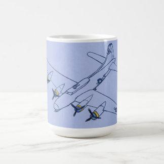 Drawing of Airplane Basic White Mug