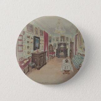 Drawing of an Interior- Cabinet du Salon 6 Cm Round Badge