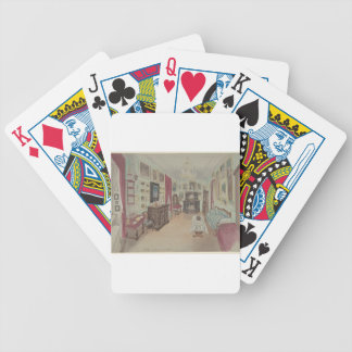 Drawing of an Interior- Cabinet du Salon Bicycle Playing Cards