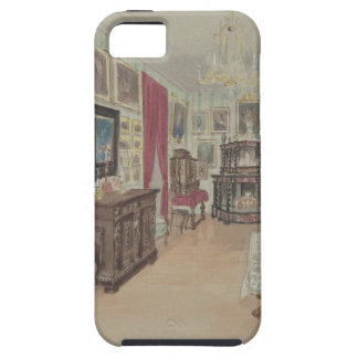 Drawing of an Interior- Cabinet du Salon iPhone 5 Cover