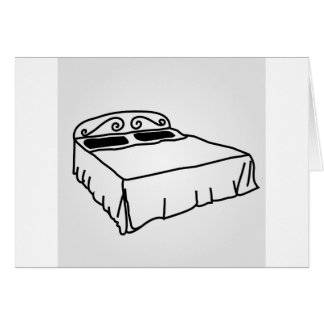 Drawing of bedroom furniture card