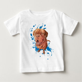 Drawing of Brown Mastiff Dog Art and Paint Baby T-Shirt