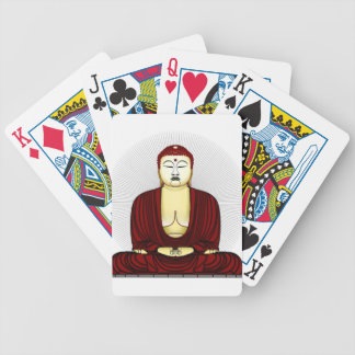 Drawing of Buddha Bicycle Playing Cards