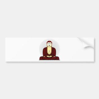 Drawing of Buddha Bumper Sticker