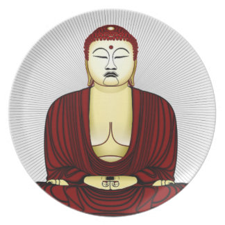 Drawing of Buddha Plate