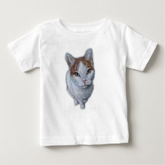 Drawing of Cat White and Orange Baby T-Shirt