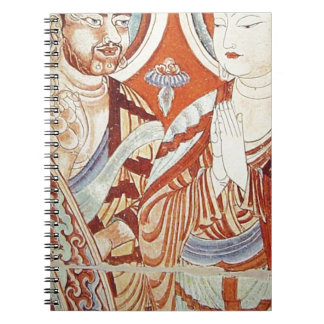 Drawing of Central Asian Buddhist Monks Notebook