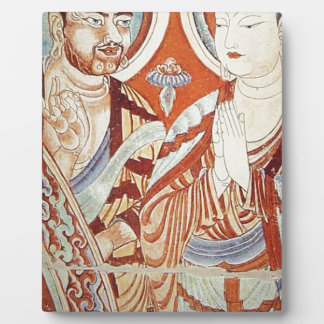 Drawing of Central Asian Buddhist Monks Plaque