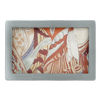 Drawing of Central Asian Buddhist Monks Rectangular Belt Buckles