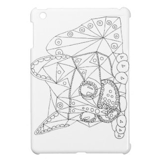 Drawing of Colorable Cat for Coloring iPad Mini Cover
