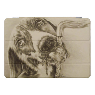 Drawing of Dog Drinking Animal Art iPad Pro Cover