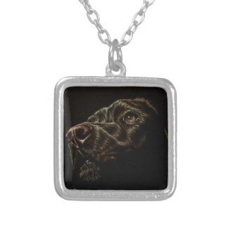 Drawing of Dog on Necklace
