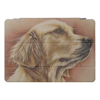 Drawing of Golden Retriever Dog Animal Art iPad Pro Cover