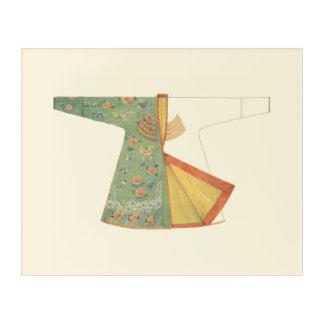 Drawing of Half-Finished Kimono Acrylic Wall Art