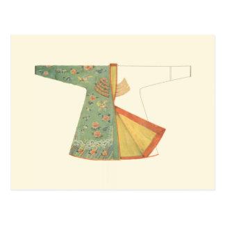 Drawing of Half-Finished Kimono Postcard