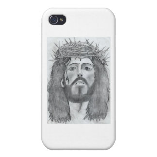 drawing of Jesus iPhone 4 Covers