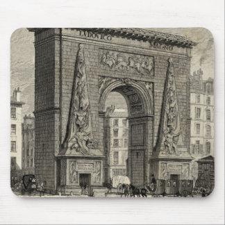 Drawing of Porte Saint-Denis Monument Mouse Pad
