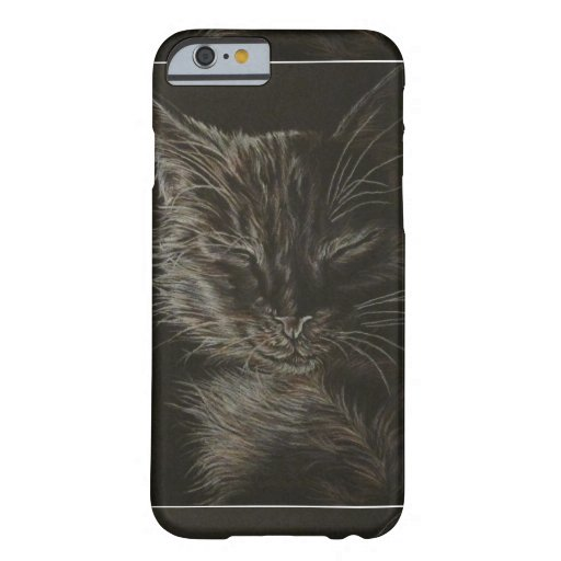 Drawing of Sleepy Cat on Phone Case iPhone 6 Case