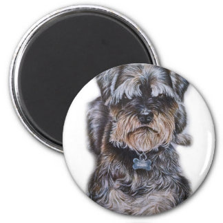 Drawing of Terrier Dog Art Magnet