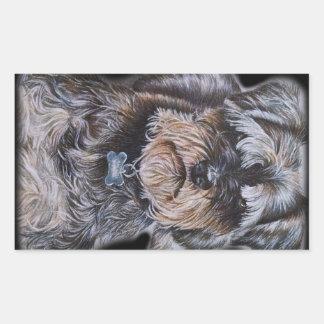 Drawing of Terrier Dog Art Rectangular Sticker