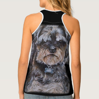 Drawing of Terrier Dog Art Singlet
