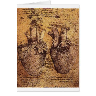 Drawing of the heart and its blood vessels card