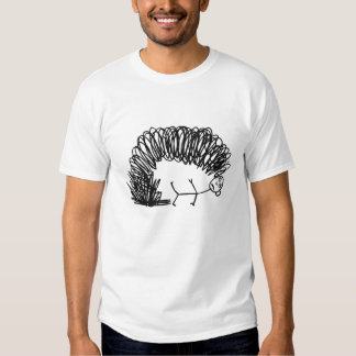 Drawing of the monster shirt