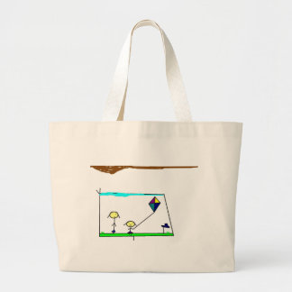 Drawing on the drawing of the girls emoinando pipe large tote bag