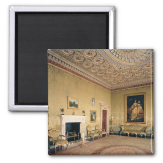 Drawing-room by Adam, c.1770-80 Square Magnet