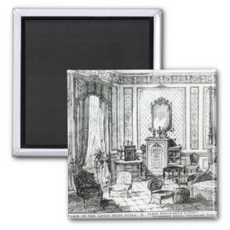 Drawing Room in the Louis Seize Style Square Magnet