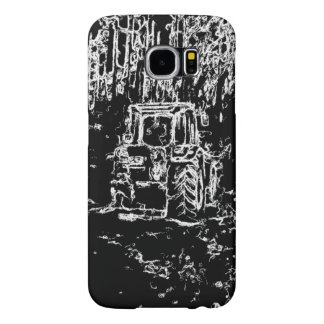 drawing tractor and nature samsung galaxy s6 cases