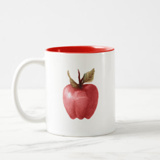 drawing weird apple mug