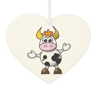 Drawn Cartoon Black and White Cow Bull Car Air Freshener