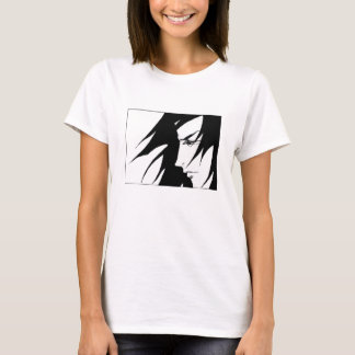 Drawn Character With Wind Blown Hair Manga T-Shirt