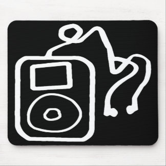 Drawn iPod Black Mousepad