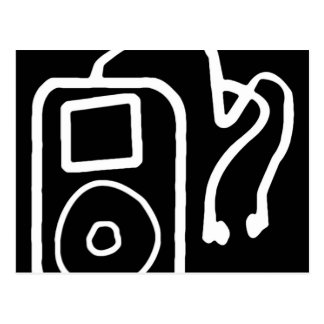 Drawn iPod Black Postcards