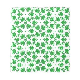 Drawn leaf design pattern notepad