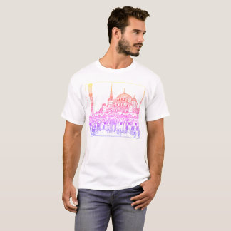 Drawn Sultan Ahmed Mosque Color T-Shirt
