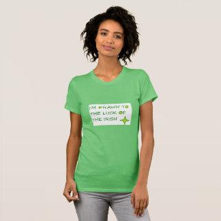 Drawn to the luck of the Irish green bella t-shirt